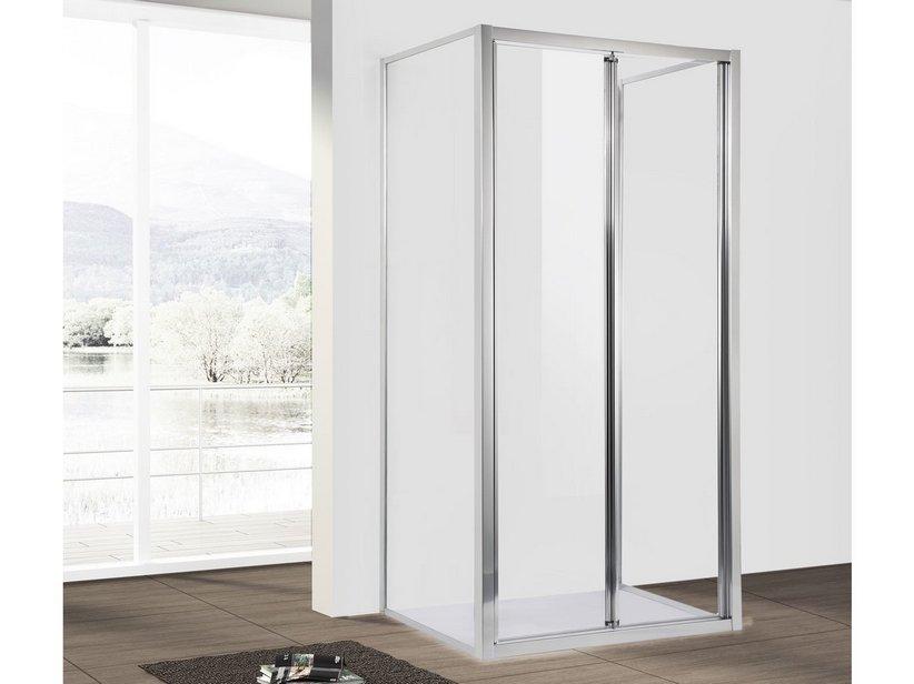 Neptum porta soffietto 2 lati fissi 80x100 iperceramica - Porta a soffietto per doccia ...