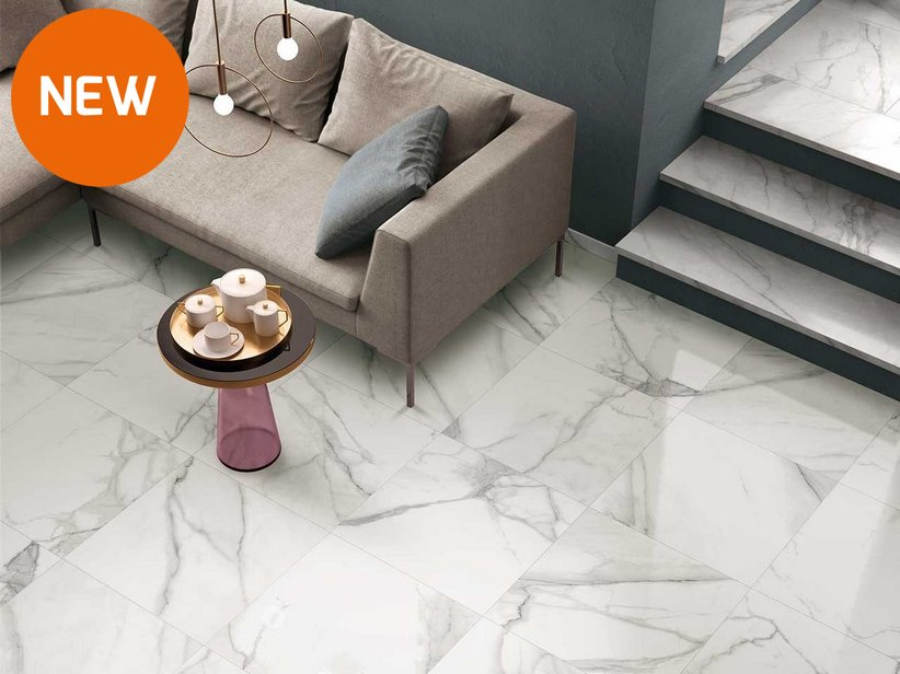 Gres lappato effetto marmo vissuto nobles iperceramica - Piastrelle 3 mm ...