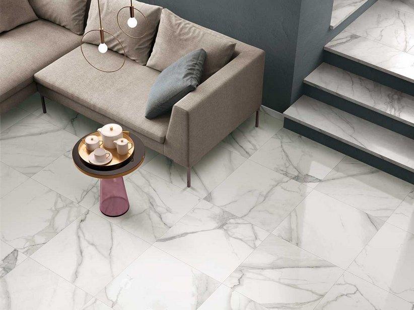 Gres lappato effetto marmo vissuto nobles iperceramica - Piastrelle effetto marmo ...