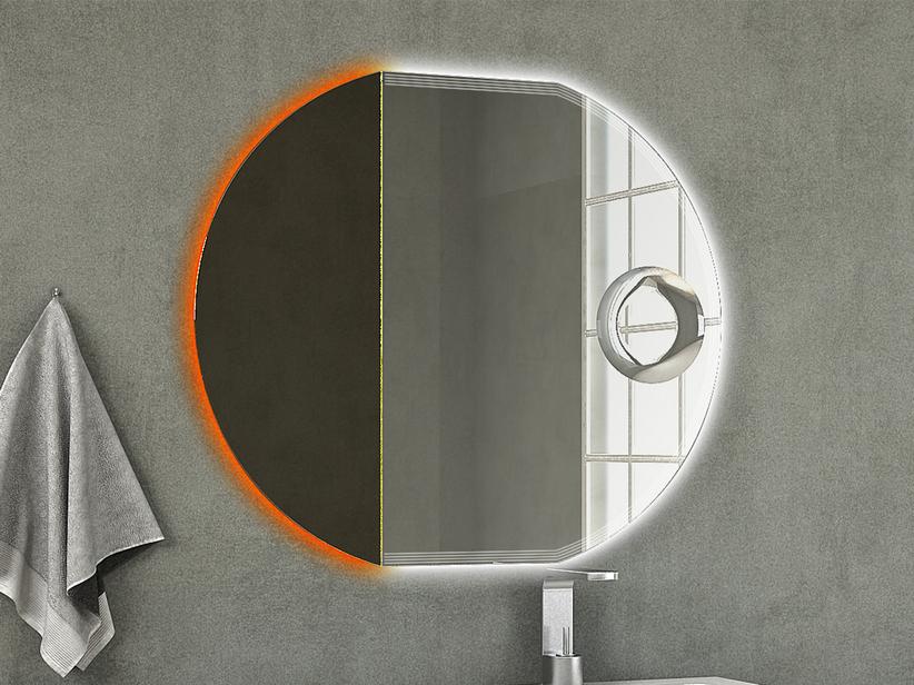 Olas specchio led rgb con ingranditore cm 90x80 iperceramica - Specchio bagno 90x80 ...