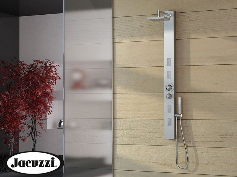 JACUZZI® SKIN SHOWER PANEL WITH THERMOSTATIC MIXER STAINLESS STEEL ...