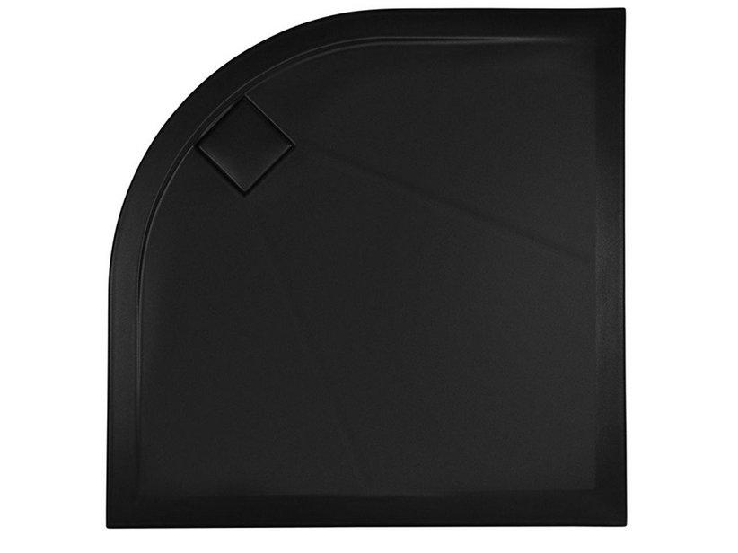 PLUSTON SMOOTH SEMICIRCULAR SHOWER TRAY 100X100 BLACK - Iperceramica