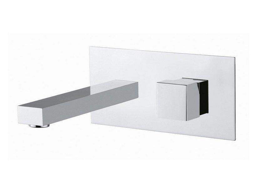 Quadra miscelatore lavabo incasso a muro cromo iperceramica - Rubinetti a muro bagno ...