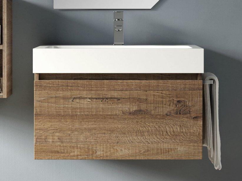 Qubo cassetto 70 sherwood iperceramica for Mobili componibili per bagno