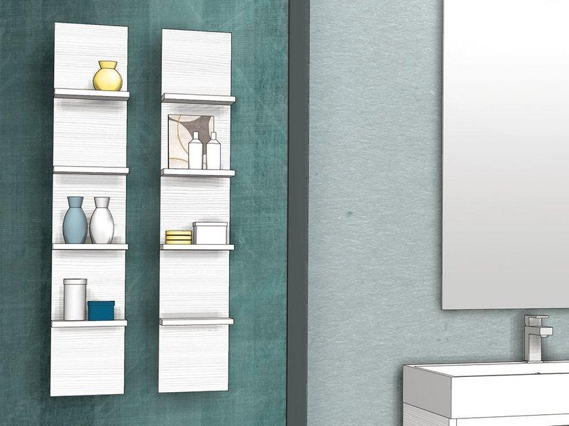 Qubo etagere 4 ripiani bianco matrix iperceramica for Mobili componibili per bagno