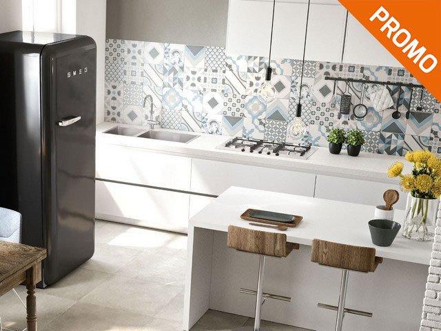 Rivestimento cucina effetto cementina quilt iperceramica - Mattonelle rivestimento cucina ...