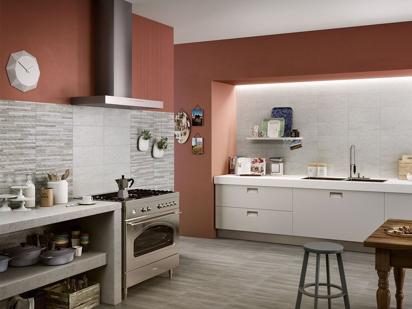 Cucina Color Ciliegio E Panna. Gallery Of Love The Layout With ...