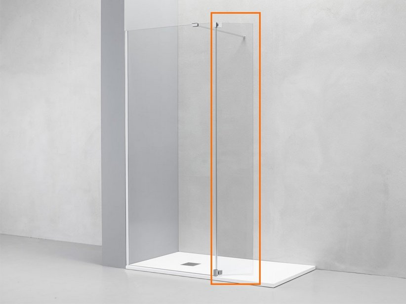 roxy cm 40 h200 transparent chrom iperceramica. Black Bedroom Furniture Sets. Home Design Ideas
