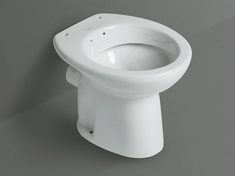 Sanit wc bidet scarico parete iperceramica for Vaso scarico a parete