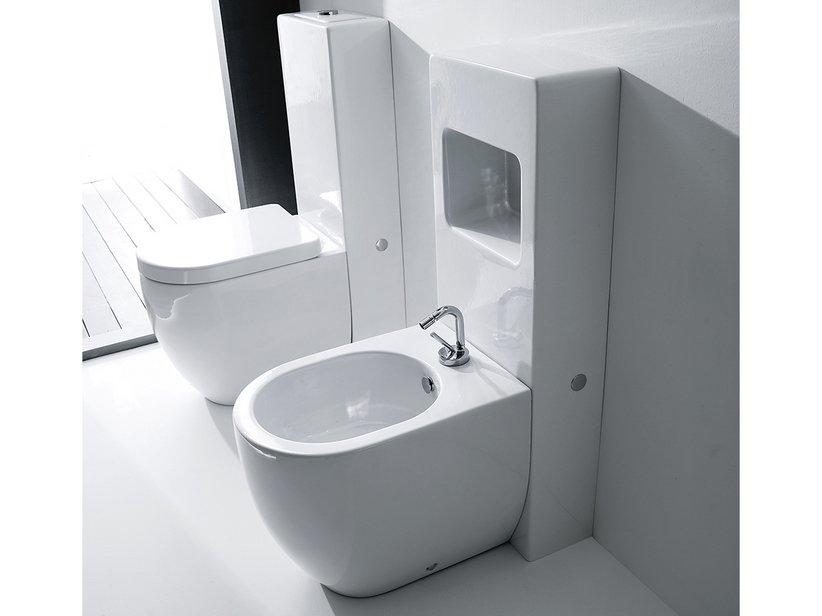 Sanitari monoblocco flo monolite iperceramica for Cassetta wc esterna sottile