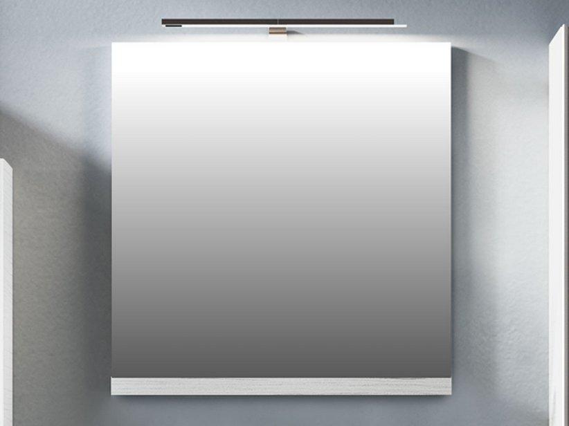 Smart specchio 59x61 5 altezza 2 larice bianco iperceramica - Altezza specchio ...