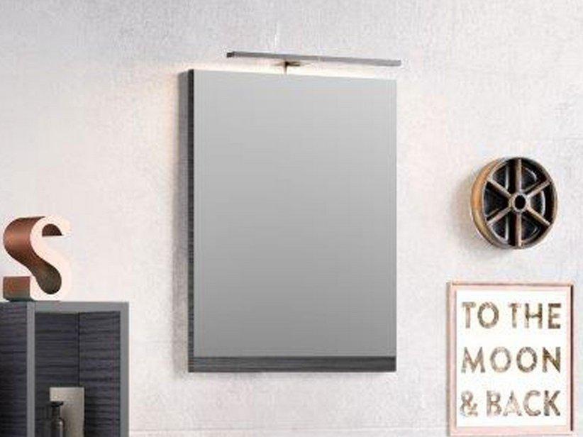 Smart specchio 49x61 5 altezza 2 larice nero iperceramica - Altezza specchio bagno ...