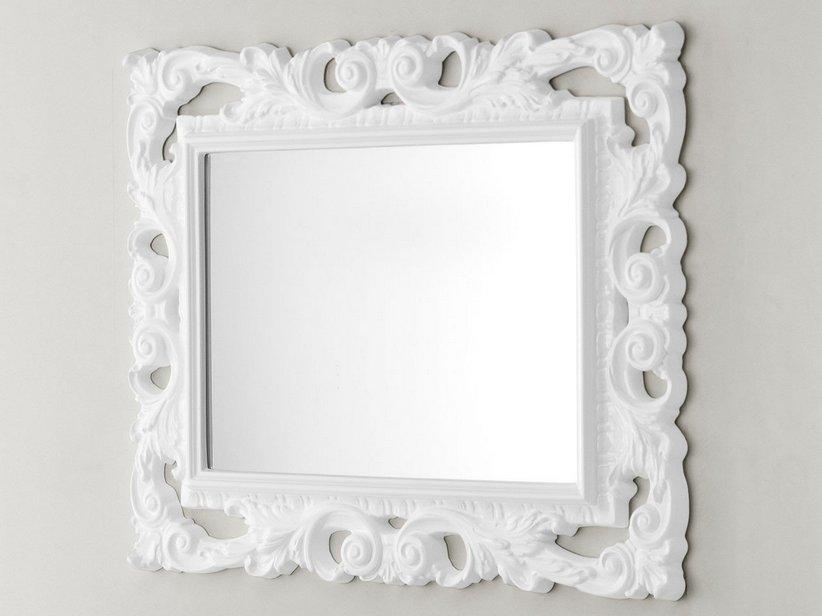Specchio barocco 94x75 bianco iperceramica - Specchio di biancaneve ...