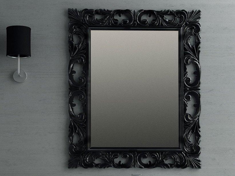 Specchio barocco 94x75 grigio antracite iperceramica for Specchio bagno grigio