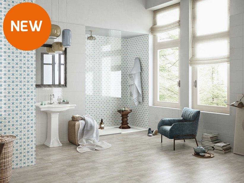Gres porcellanato effetto legno suite iperceramica - Iperceramica pavimenti bagno ...