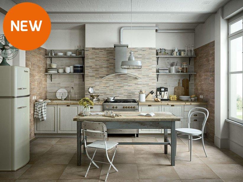 Rivestimento cucina in bicottura effetto legno taiga iperceramica - Pellicola rivestimento cucina ...