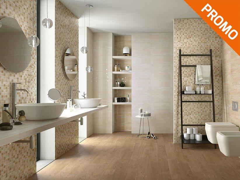 Rivestimento bagno effetto marmo tivoli iperceramica - Bagno effetto legno ...