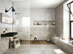 Rivestimento bagno effetto marmo tivoli iperceramica - Configuratore 3d bagno ...