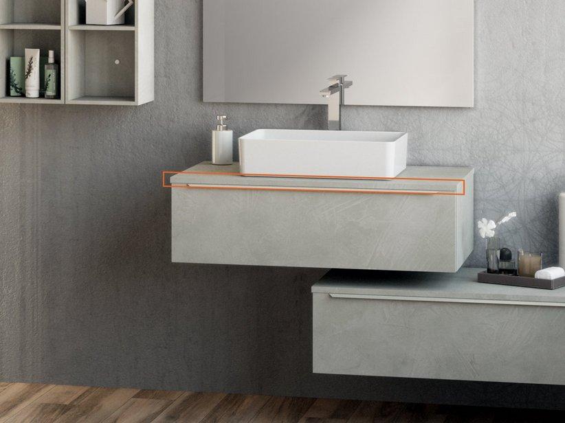 Trendy toppino cm 91x51xaltezza1 2 cemento iperceramica for Catalogo mobili bagno