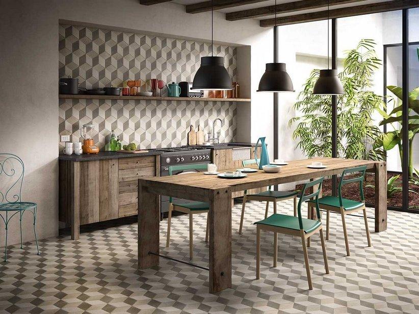 Gres porcellanato esagonale decoro effetto 3d iperceramica for Pavimenti 3d prezzi