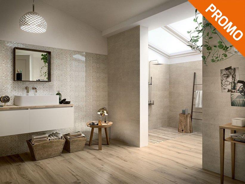 Rivestimento bagno effetto legno multiformato unique piastrelle