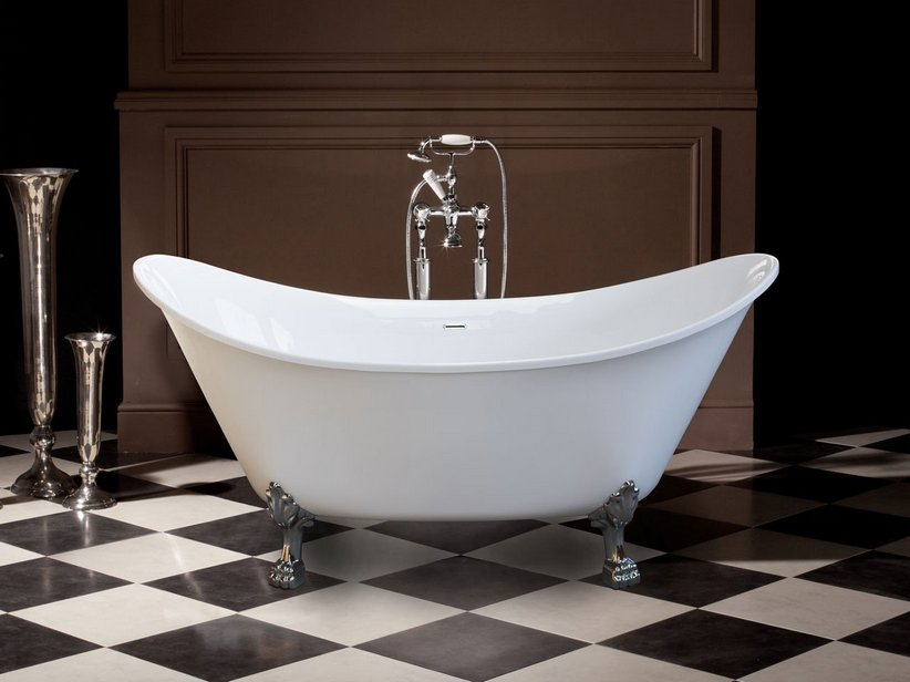 Vasca deco two 1700x720 piedi inclusi iperceramica - Vasca da bagno con i piedi ...