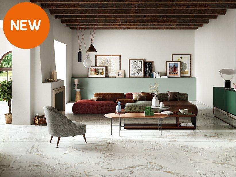 Gres effetto marmo 75x75 vendome iperceramica for Pavimenti bagno prezzi