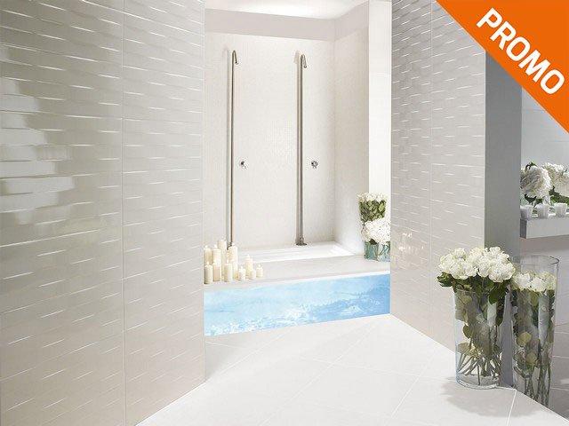 rivestimento bagno moderno con decoro ad onde