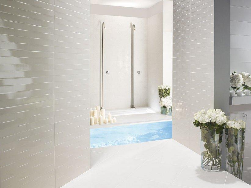 rivestimenti bagno - iperceramica - Bagni Moderni Beige