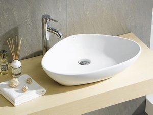 Lavabo bagno da appoggio iperceramica