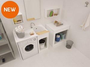 Armadio Lavanderia Esterno : Mobili lavanderia: soluzioni e accessori iperceramica