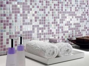 Bagno Con Mosaico Rosa : Mosaico bagno in vetro iperceramica