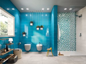 Piastrelle Bagno Turchese : Rivestimento bagno turchese