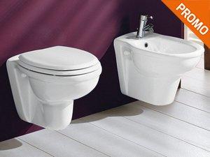 Sanitari sospesi bagno in ceramica con sedile softclose nuovo design
