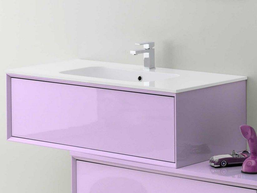 Brera color base porta lavabo 90x50x33 lilla iperceramica - Mobile bagno lilla ...
