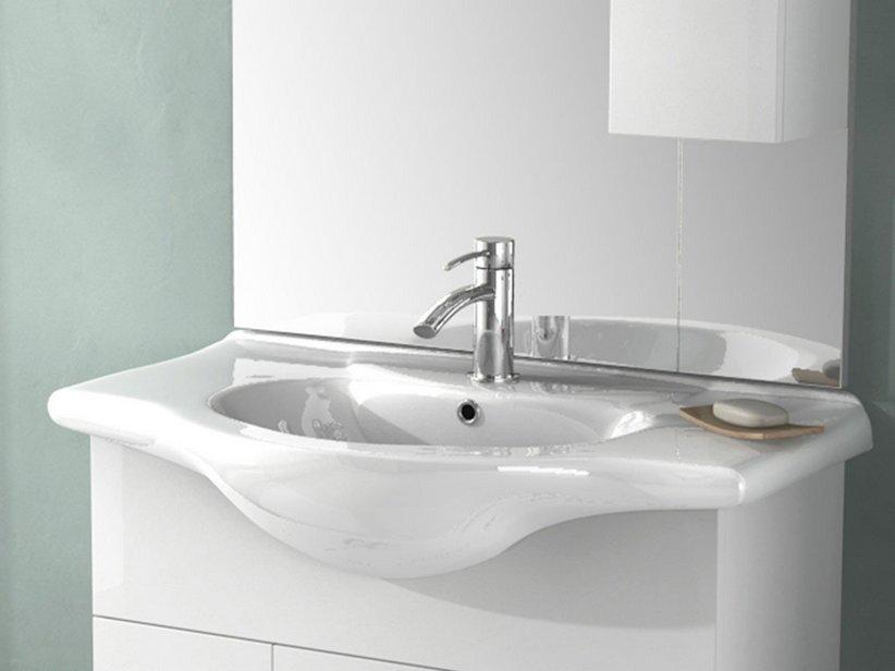 Soft easy 85 lavabo integrale 85x50 ceramica iperceramica for Prezzi lavabo bagno