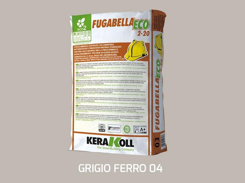 Fugabella eco 2 20 grigio ferro 04 25 kg iperceramica for Ferro usato al kg