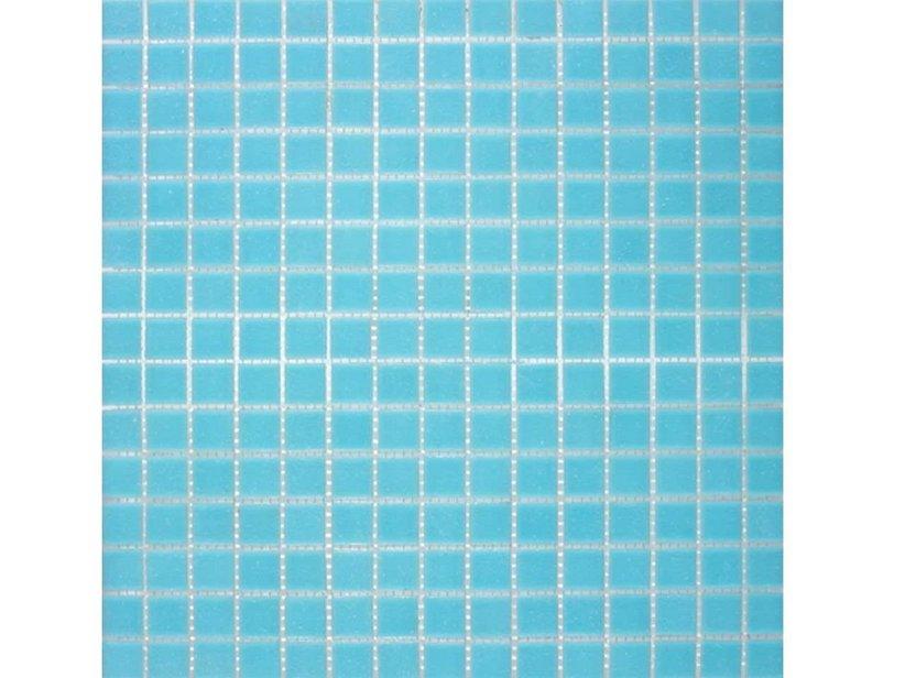 Mosaico vetro a03 azzurro iperceramica - Striscia di mosaico in bagno ...