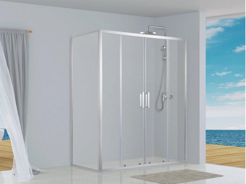 Neptum box doccia 2 ante scorrevoli porta lato fisso 70x180 iperceramica - Ante per doccia ...