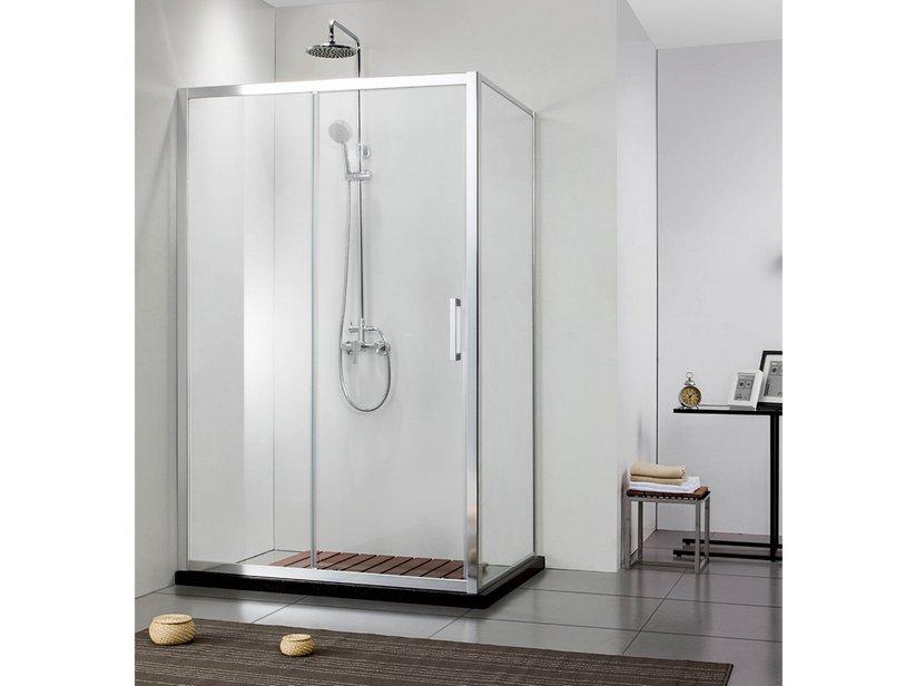 Neptum box doccia 1 anta scorrevole porta lato fisso - Ante per doccia ...