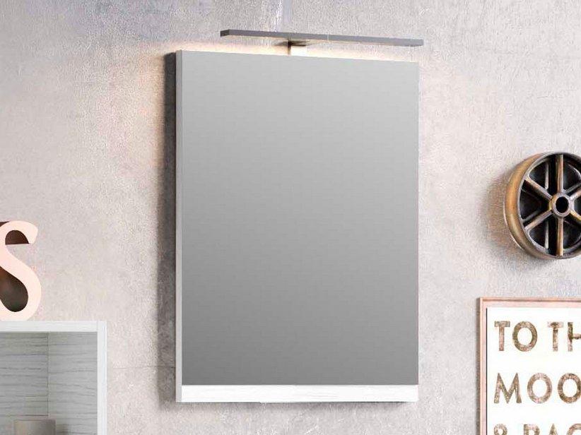 Smart specchio 49x61 5 altezza 2 larice bianco iperceramica - Altezza specchio ...